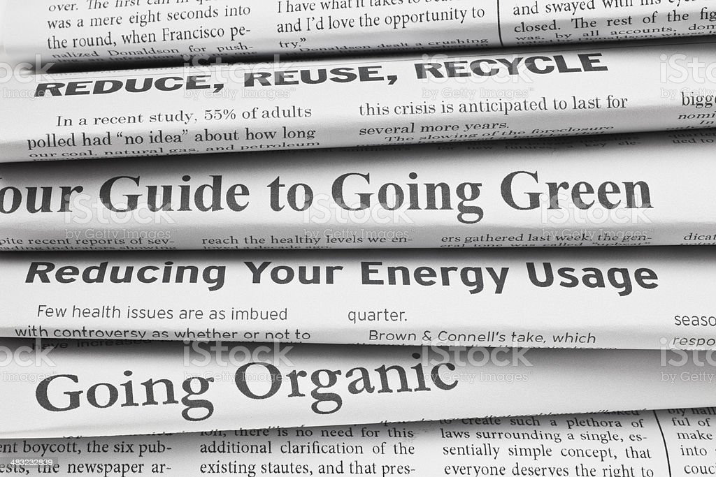 Headlines: Going Green royalty-free stock photo