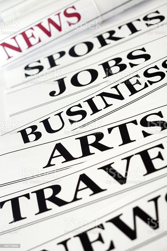 Headlines royalty-free stock photo