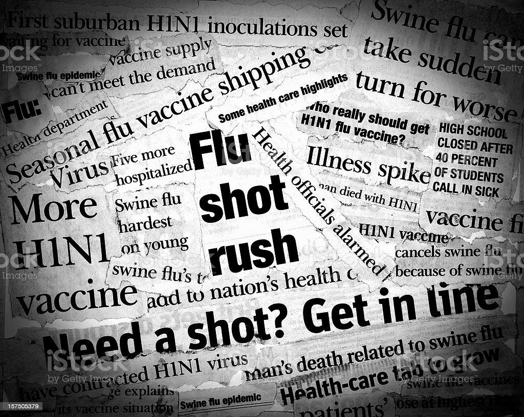 H1N1 Headlines royalty-free stock photo