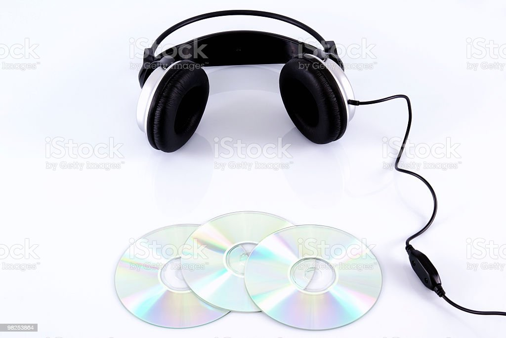Cuffie e CD foto stock royalty-free