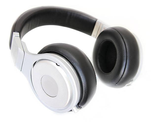 headphone isolated on white stock photo