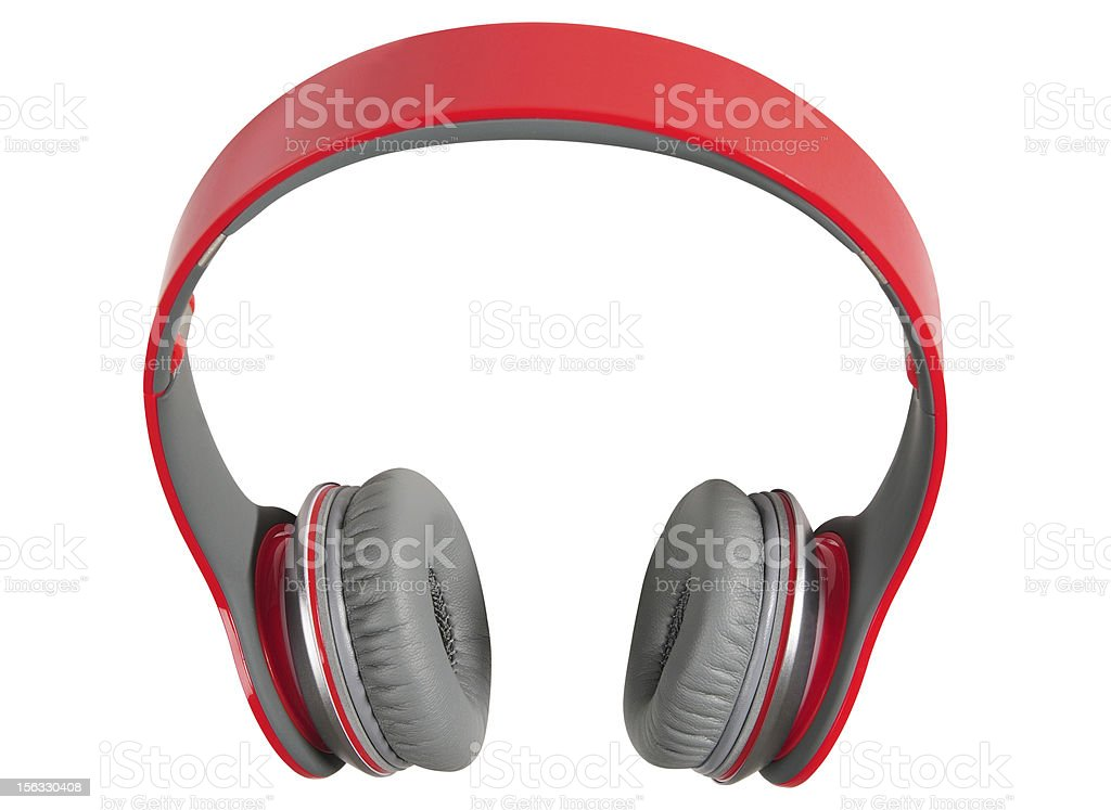 Headphones. Clipping path royalty-free stock photo