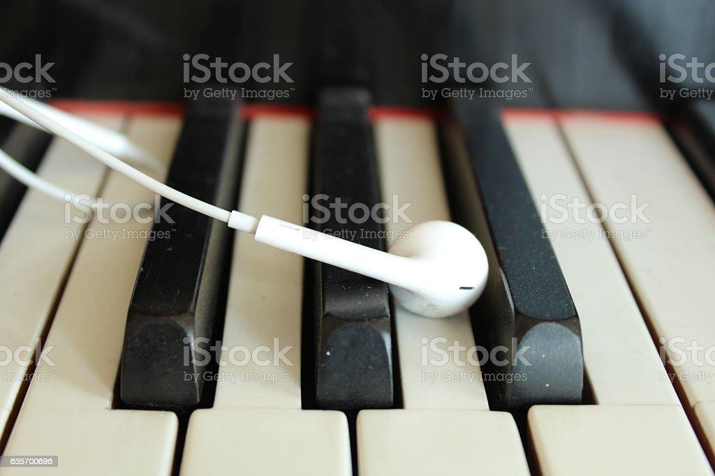 Headphones closeup royalty-free stock photo