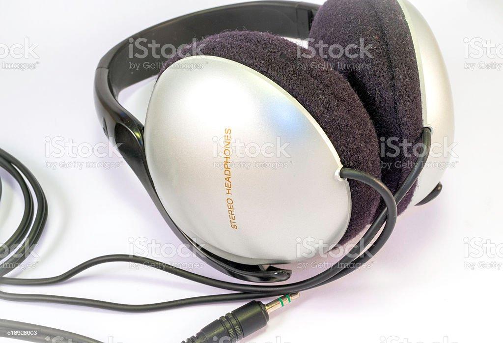 Headphones. Color image stock photo