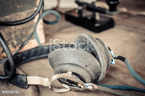 istock Headphones for use in the Telegraph 875240716