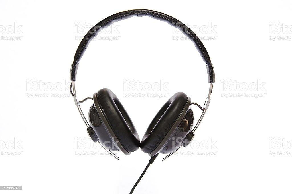 Headphones Head On royalty-free stock photo