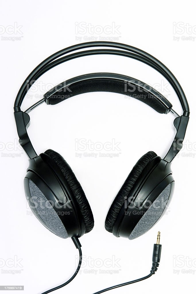 Headphones in High Key royalty-free stock photo