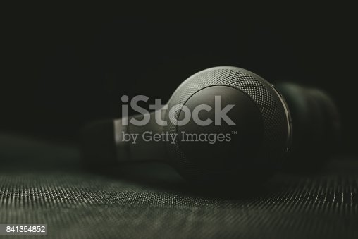 istock Headphones in the dark 841354852