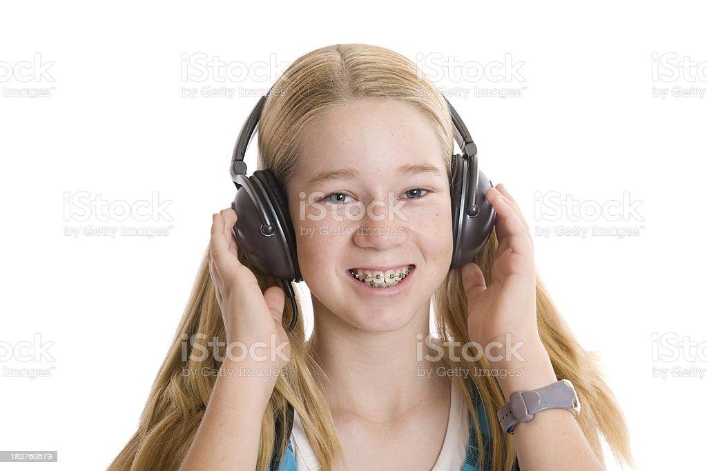 Kopfhörer Musik Lizenzfreies stock-foto