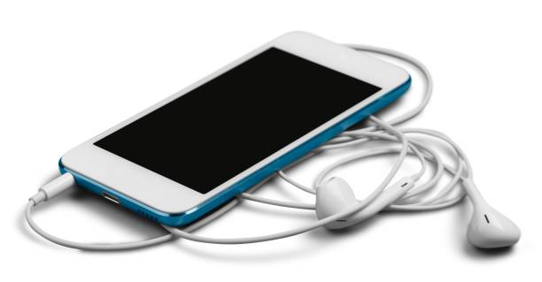Headphones. Smartphone with Earphones mp3 player stock pictures, royalty-free photos & images