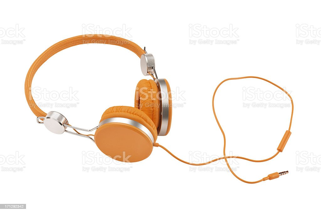 Headphones (Clipping Path) royalty-free stock photo