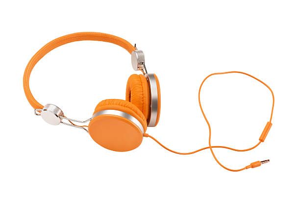 Headphones (Clipping Path) stock photo
