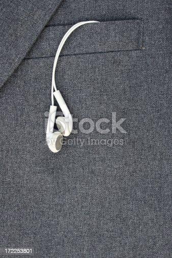 headphones and jacket