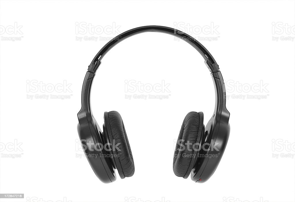 Headphones Headphones isolated on white.Please also see: Arts Culture and Entertainment Stock Photo