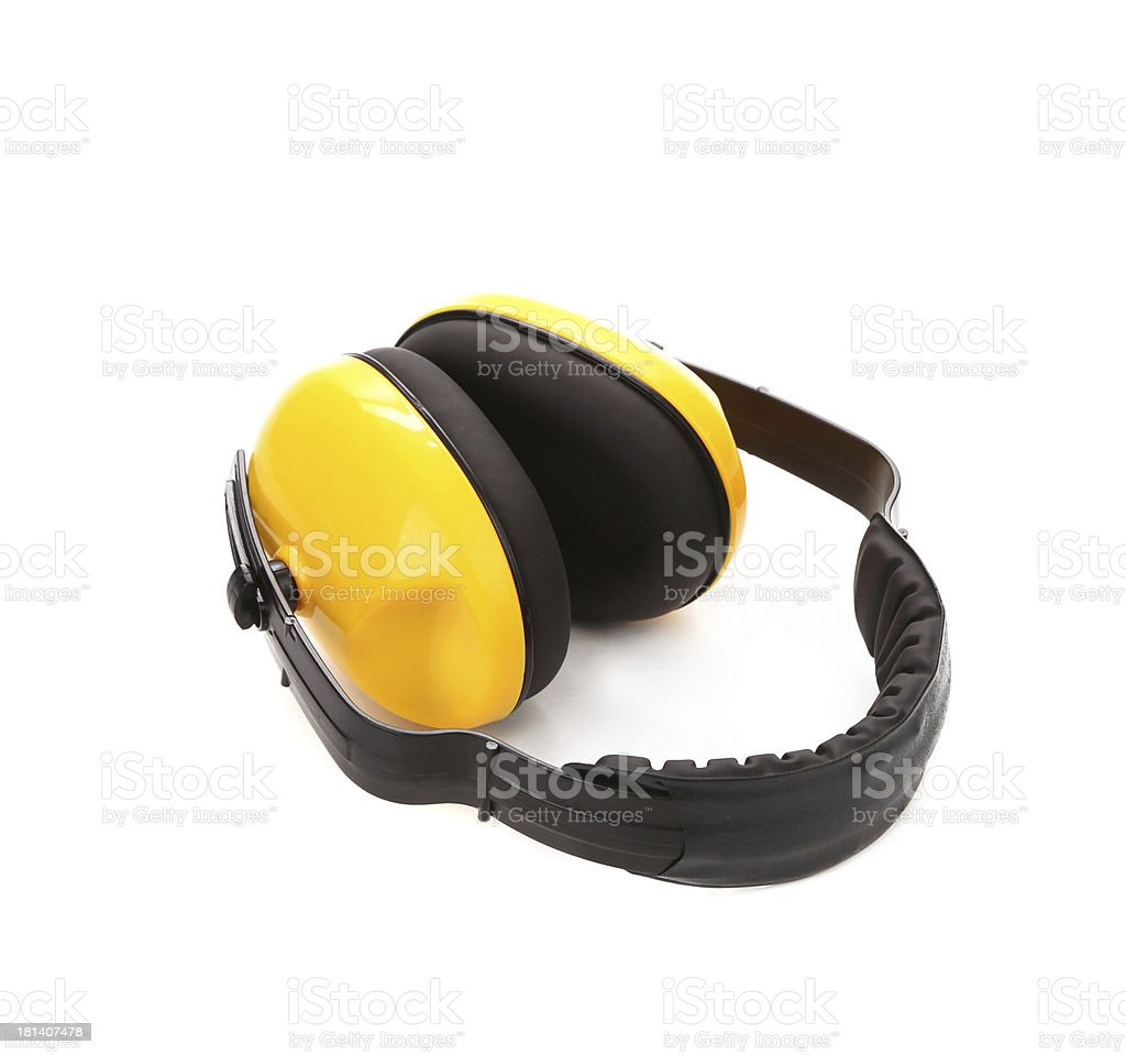 Headphones protection. royalty-free stock photo
