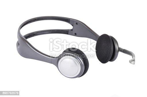 istock Headphones with microphone 895763576