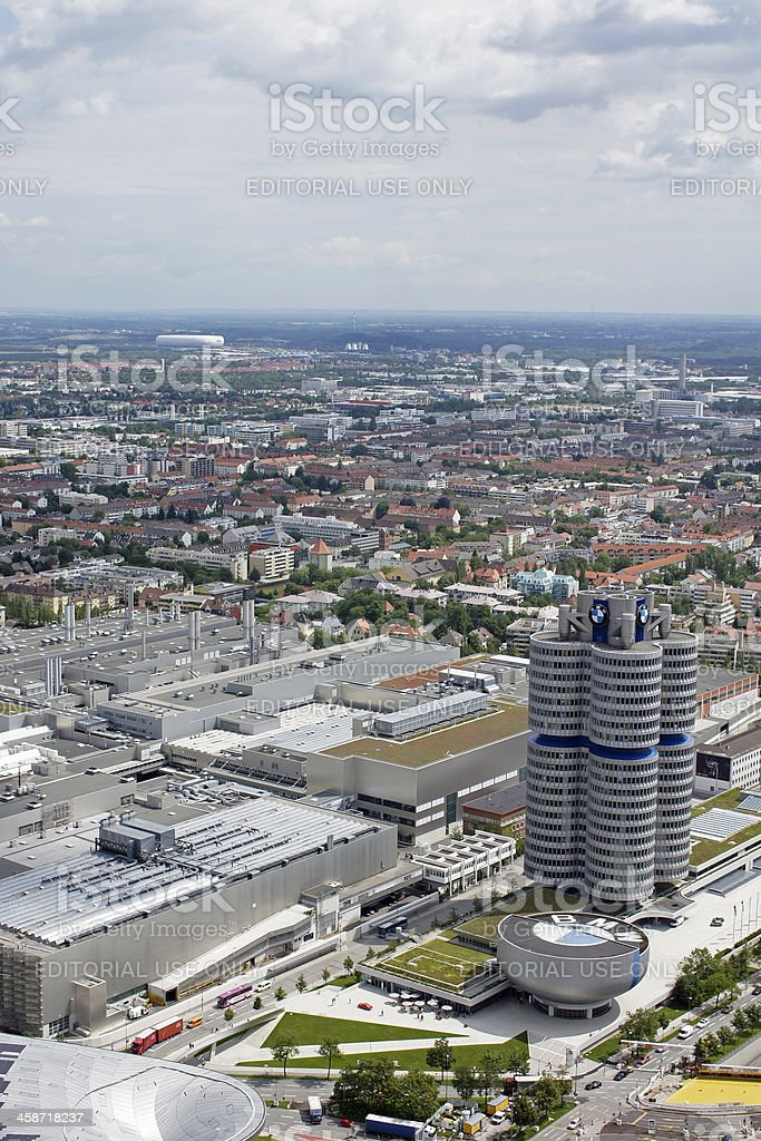 BMW headquarter and museum royalty-free stock photo