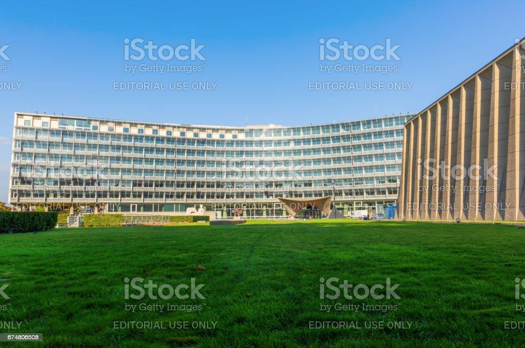 UNESCO headquarter in Paris stock photo