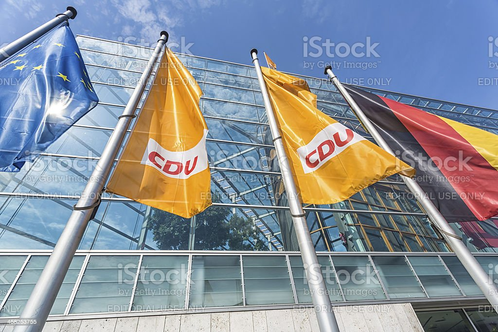Headquarter of German party CDU stock photo