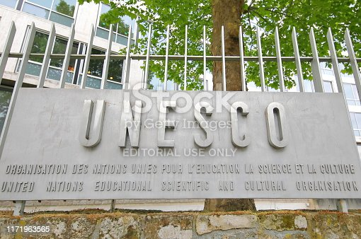 Paris France - May 22, 2019: UNESCO headquarter Paris France