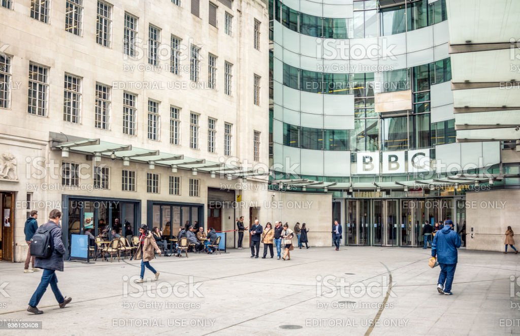 BBC Headquarters at Broadcasting House in London stock photo