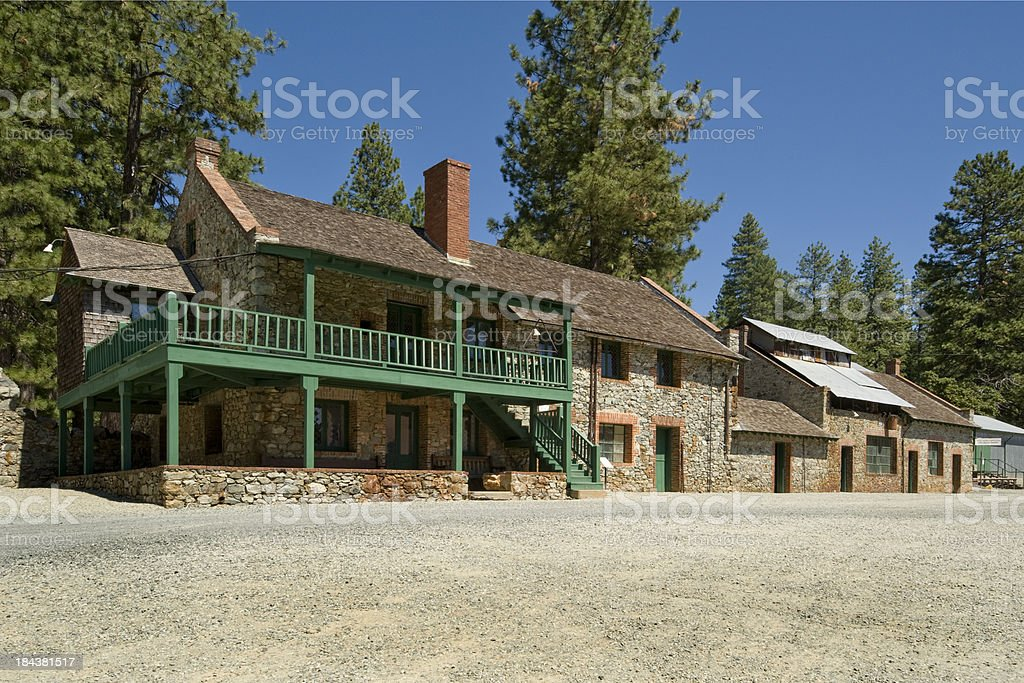 Headquarters Building, Empire Mine State Park, Grass Valley, CA. stock photo