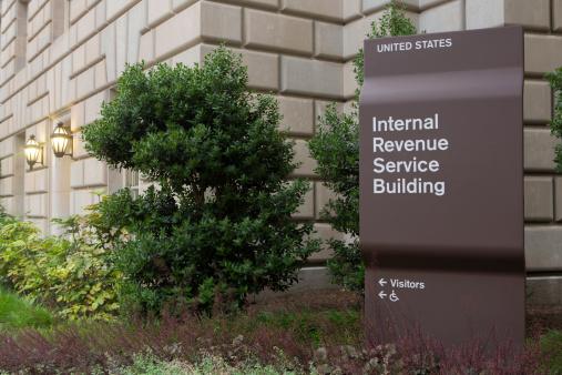 The IRS (Internal Revenue Service) headquarters building in Washington DC