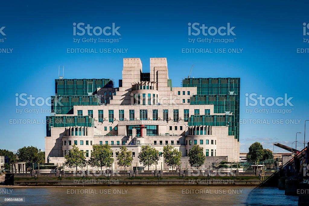 MI6 headquarters in Vauxhall, London, England royalty-free stock photo