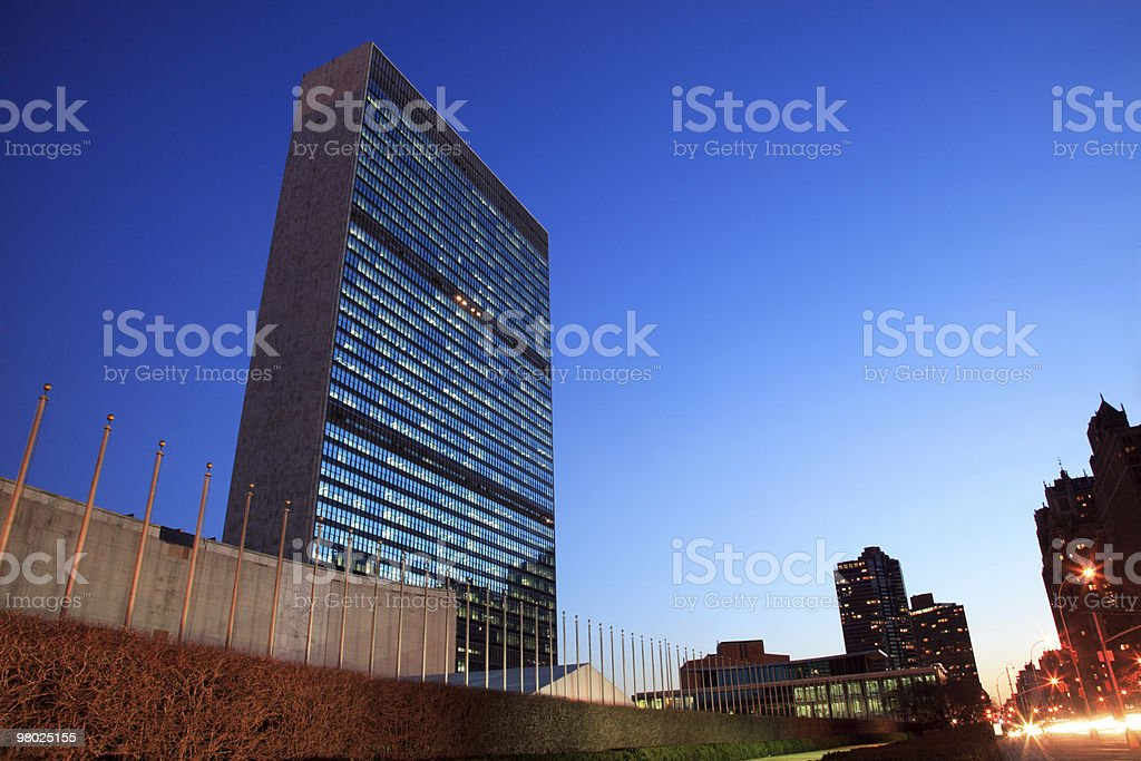 La sede dell'ONU a New York foto stock royalty-free