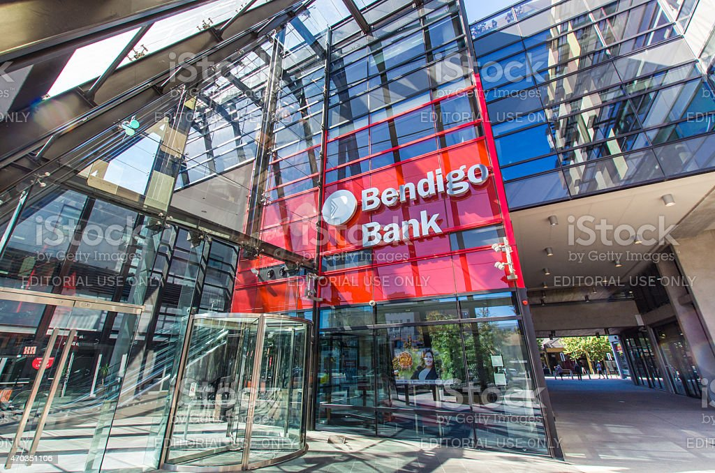 Headquarters of the Bendigo Bank stock photo