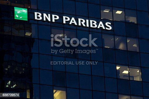istock Headquarters of the BNP Paribas Bank for Quebec in Montreal 638709574