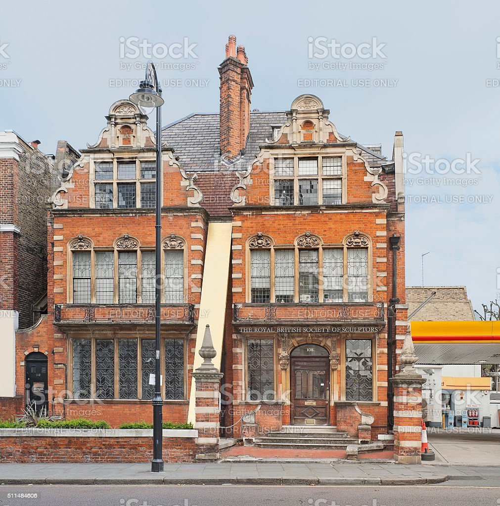 Headquarters of the Royal British Society of sculptors in London stock photo