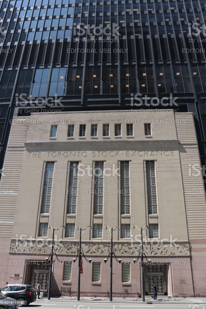 Headquarters of the Toronto Stock Exchange in Toronto's Financial District stock photo