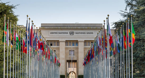 headquarters of united nations (un) in geneva, switzerland - united nations стоковые фото и изображения