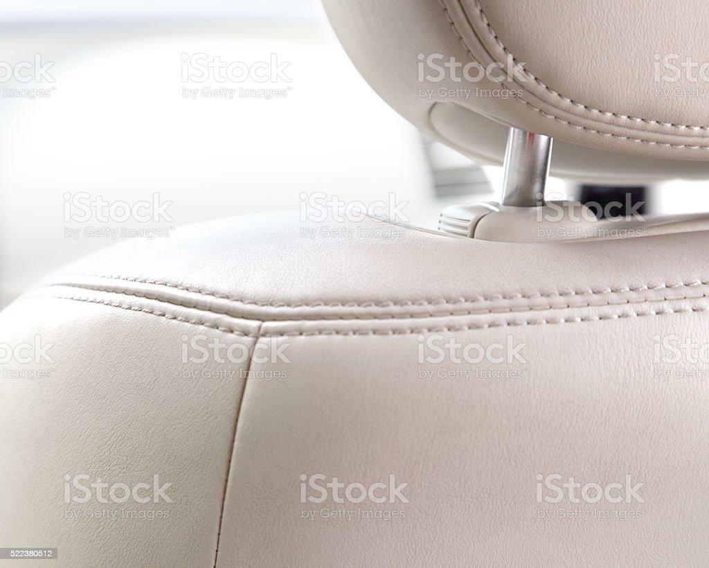 Headrest stock photo