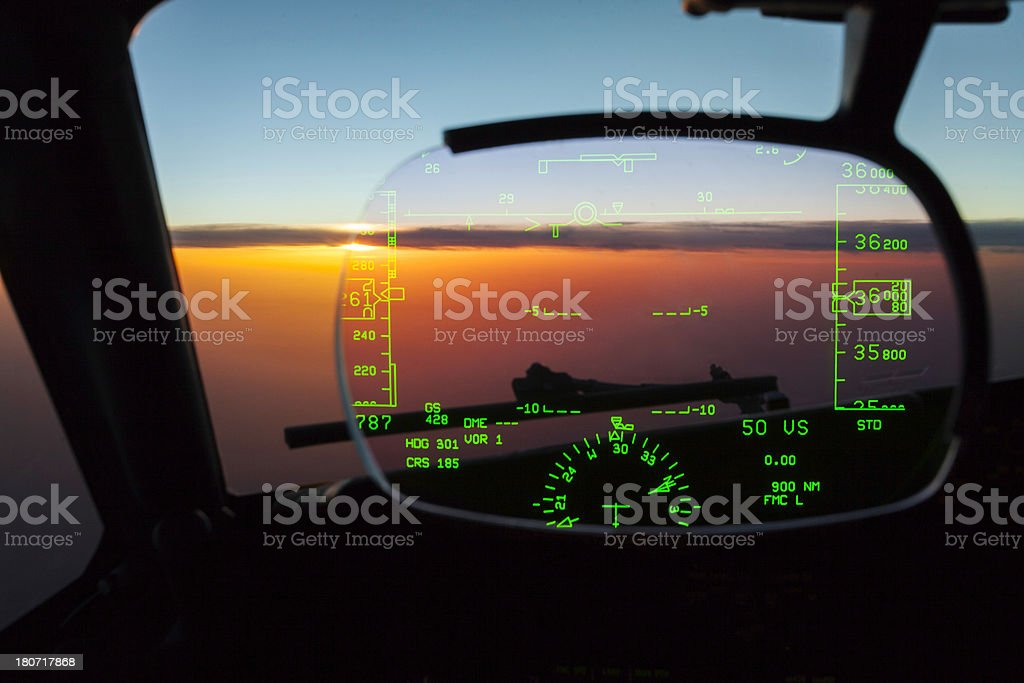 HUD Heads Up Display stock photo