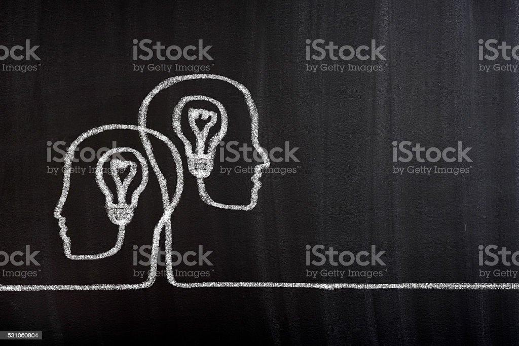Heads with Bulbs stock photo