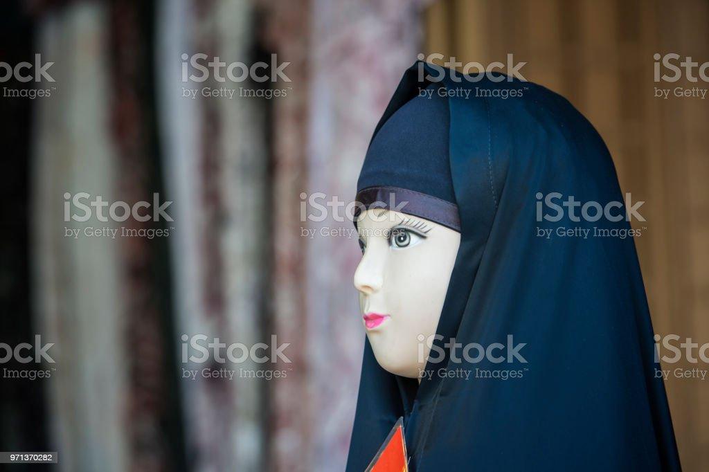 7aa55fd54751 Headscarf On A Display Dummy Bazaar Of Isfahan Iran Stock Photo ...