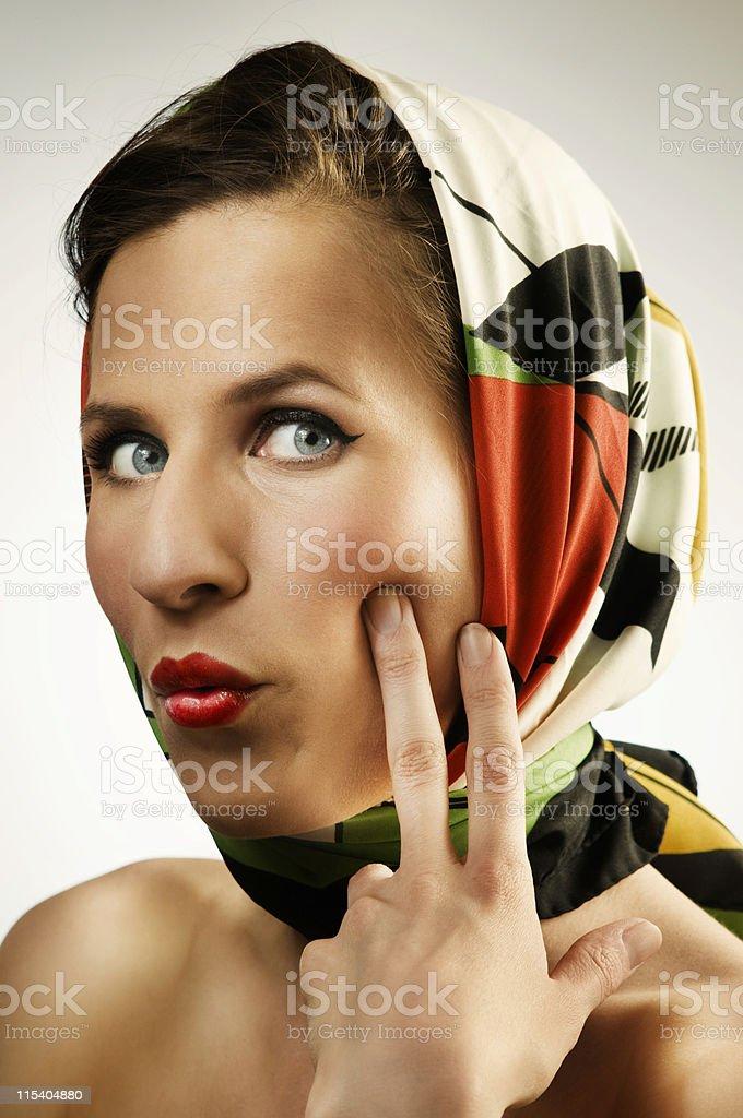 headscarf stock photo