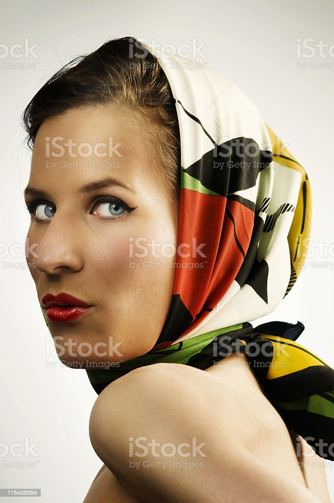 headscarf royalty-free stock photo