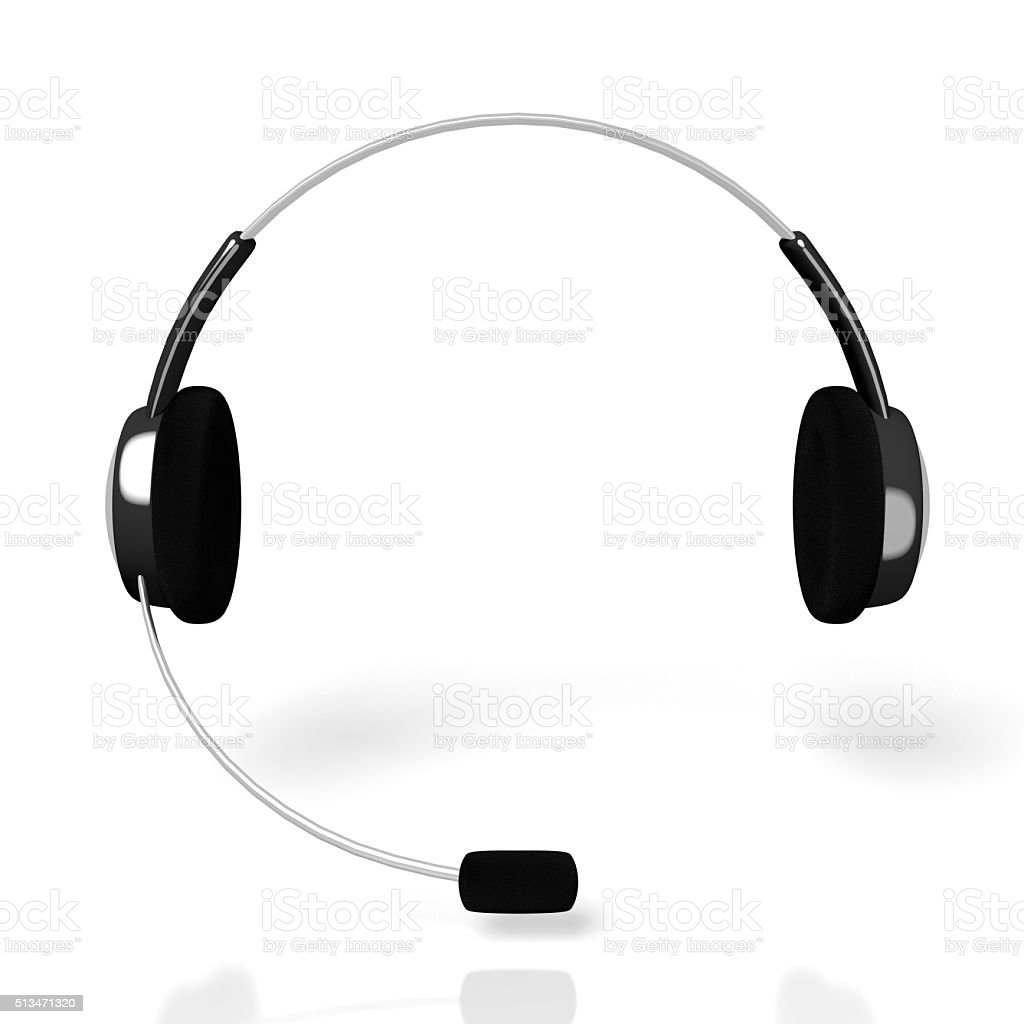 3D headset device stock photo