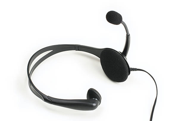 Headset Isolated on a White Background stock photo