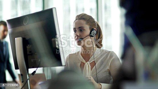 istock Headset office 871723036