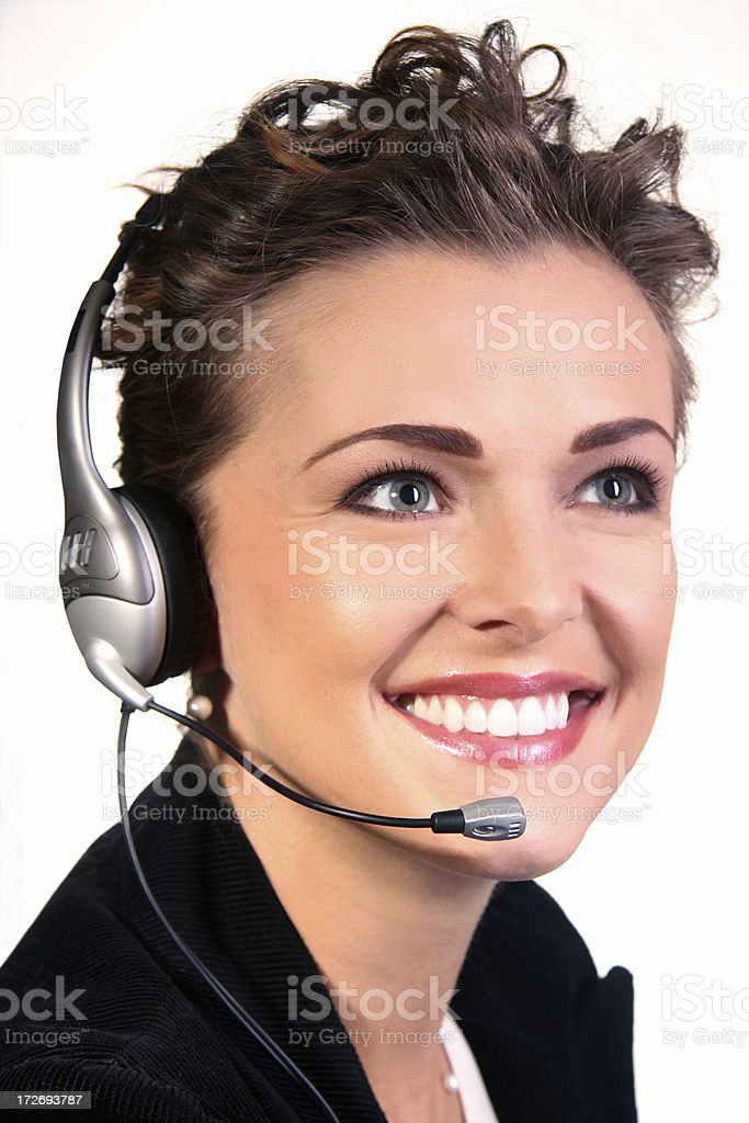 Headset Operator royalty-free stock photo