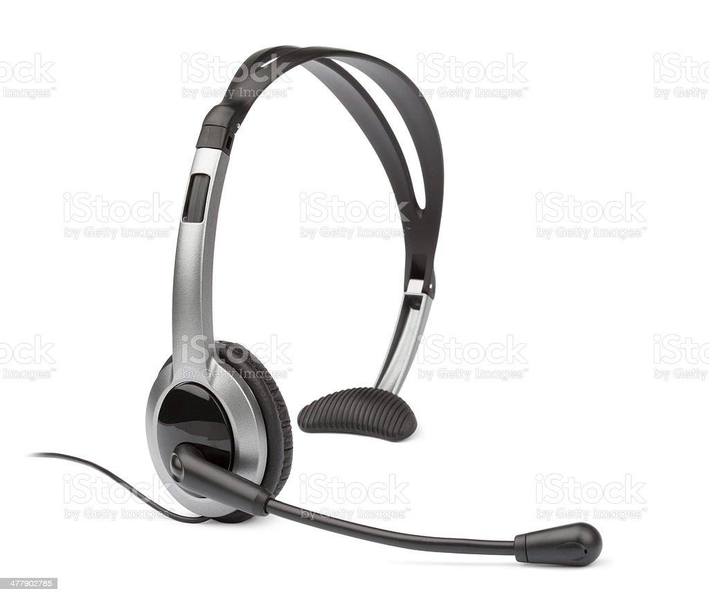 Headset Headset for cordless and landline phones Audio Equipment Stock Photo