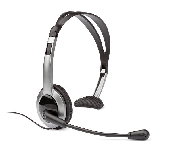 Headset Headset for cordless and landline phones hands free device stock pictures, royalty-free photos & images