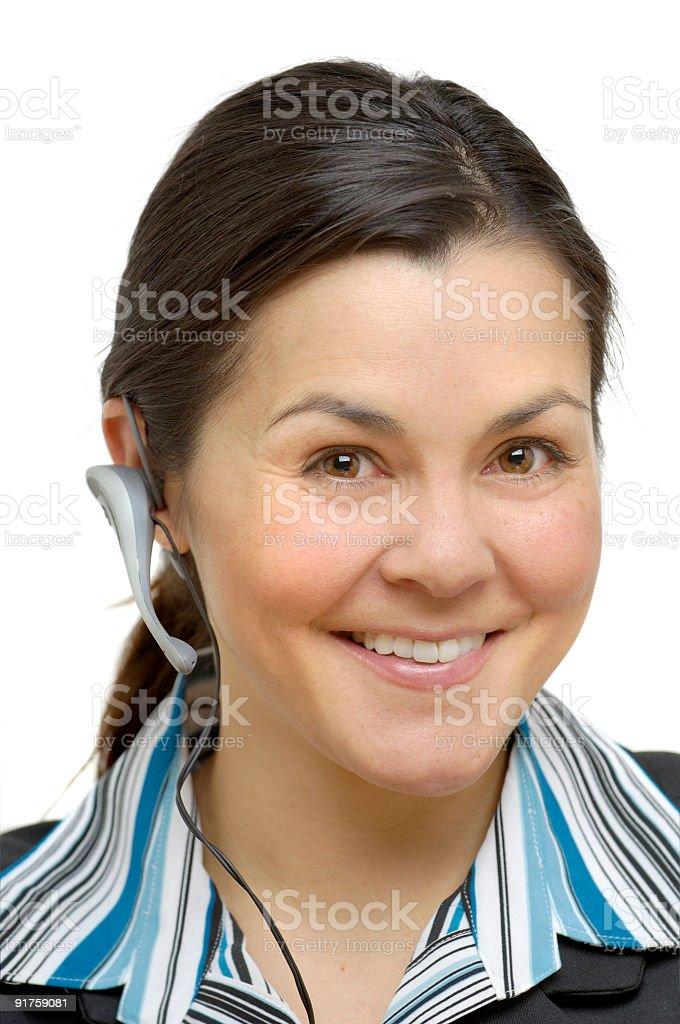 headset woman 006 stock photo