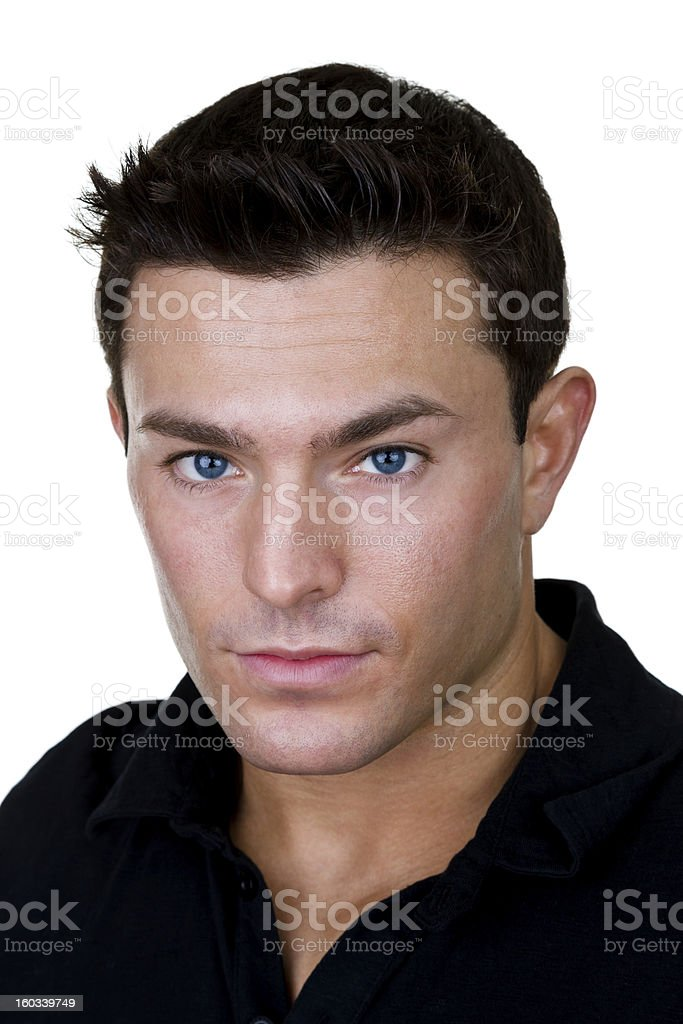 Headshot of a handsome man royalty-free stock photo