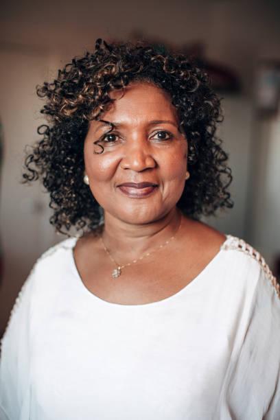 Headshot of a Mature Woman stock photo
