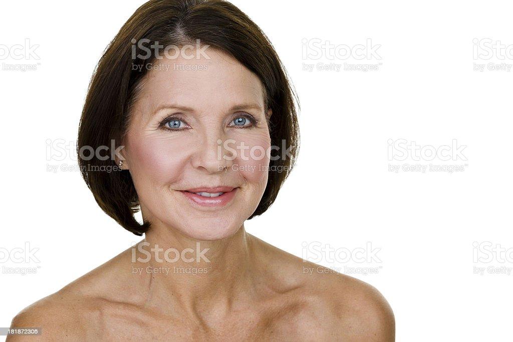 Headshot of a mature woman royalty-free stock photo